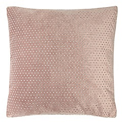 Star by Julien Macdonald - Pink velvet diamante cushion