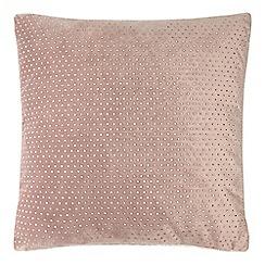 Star by Julien Macdonald - Pink velvet diamante cushion