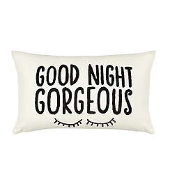 Ben de Lisi Home - Cream slogan print cushion