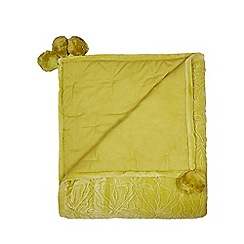 Butterfly Home by Matthew Williamson - Lime textured throw