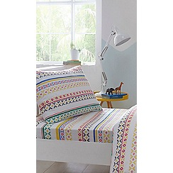 bluezoo - Multicoloured printed 'Jungle Fiesta' fitted sheet set