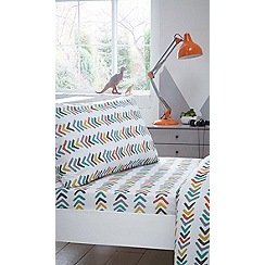 bluezoo - Multicoloured printed 'Let s Go Camping' fitted sheet set
