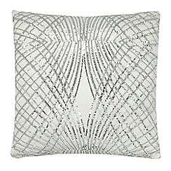 Kylie Minogue at home - Ivory sequin embellished cushion