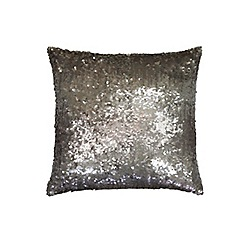 Kylie Minogue at home - Taupe 'Mila Praline' cushion
