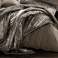 Kylie Minogue at home - Taupe 'Mila Praline' throw