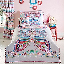 bluezoo - Multicoloured 'Mariposa' bedding set