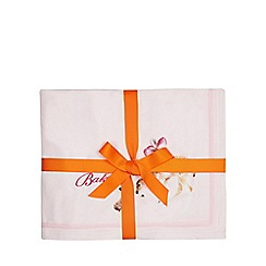 Baker by Ted Baker - Light Pink 'Deer' fleece throw