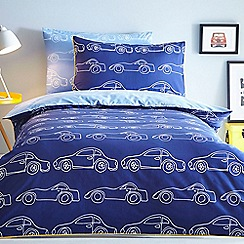 J by Jasper Conran - Blue 'Cars' bedding set