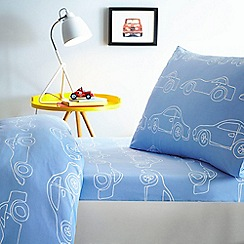 J by Jasper Conran - Blue 'Cars' fitted sheet set