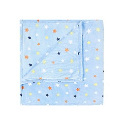 bluezoo - Blue star print fleece blanket