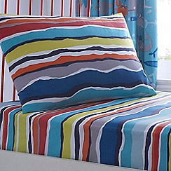 Ben de Lisi Home - Kids' multi-coloured striped fitted sheet and pillow case set