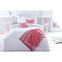 J by Jasper Conran Kids - Pink 'Heart' print bedding set