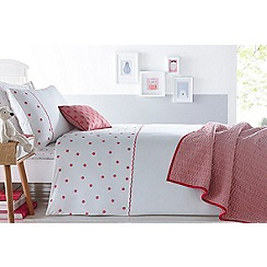 J by Jasper Conran Kids - Pink 'Floral' embroidery bedding set