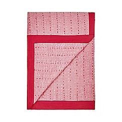 J by Jasper Conran - Pink hand stitch throw