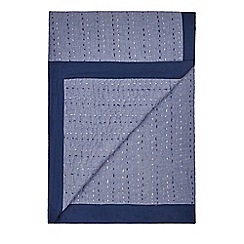 J by Jasper Conran - Blue hand stitched throw