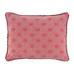 J by Jasper Conran - Pink floral embroidered cushion