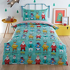 bluezoo - Multicoloured 'Christmas Jumpers' bedding set