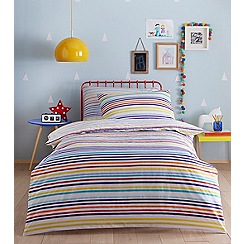 bluezoo - Kids' multi-coloured striped duvet cover and pillow case set