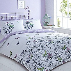 Home Collection Basics - Lilac 'Butterfly' bedding set