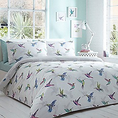 Home Collection Basics - White 'Hummingbird' bedding set