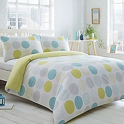 Home Collection Basics - Aqua 'Circles and Droplets' spotted bedding set