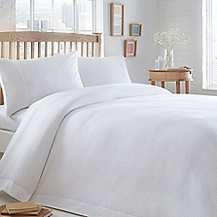 Home Collection Basics - White 'Waffle' textured bedding set