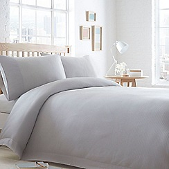 Home Collection Basics - Grey 'Waffle' textured bedding set