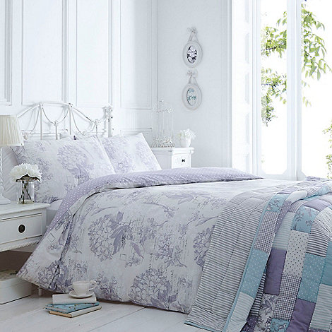 Home Collection   Lilac  Vintage Bird Cage  bedding set. Duvet Covers   Pillow Cases   Debenhams