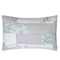 Debenhams - Lilac patchwork pillow