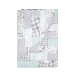 Debenhams - Lilac patchwork throw