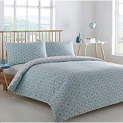 Home Collection Basics - Aqua 'Ellen Spiral' bedding set
