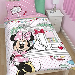 Minnie Mouse - Kids' pink 'Minnie Mouse' single duvet cover and pillow case set