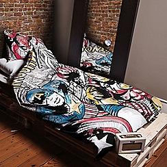 Disney Black - Kids' multicoloured 'Marvel Comics' duvet cover and pillow case set