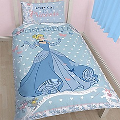 Disney Princess - Kids' multi-coloured 'Cinderella' cot bed duvet cover and pillow case set