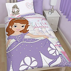 Disney - Kids' multi-coloured 'Sofia the First' single duvet cover and pillow case set