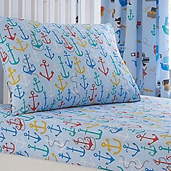 bluezoo - Kids 'Anchors' fitted sheet set
