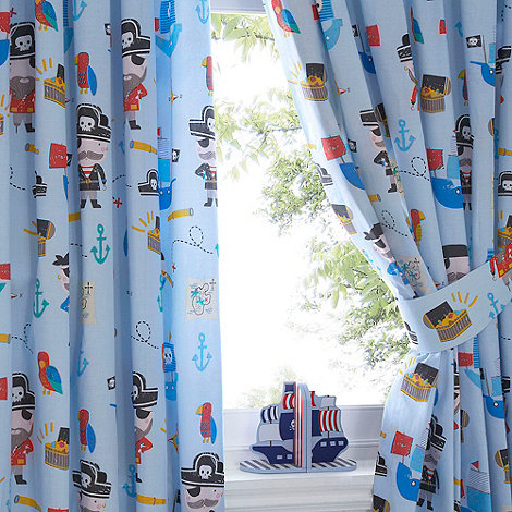 Bluezoo kids 39 39 pirates 39 pair of curtains debenhams for Childrens curtains uk