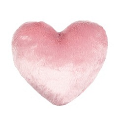 Star by Julien Macdonald - Designer pink faux fur heart cushion