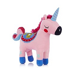 bluezoo - Girls pink unicorn cushion