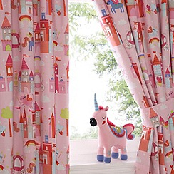 bluezoo - Kids 'Castle and Unicorns' pair of curtains