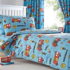 bluezoo - Kids 'Fire Engines' bedding set
