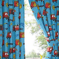 bluezoo - Kids 'Fire Engines' pair of curtains