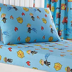bluezoo - Kids 'Fire Engines' fitted sheet set