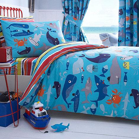 blue Sharky duvet cover and pillow case set