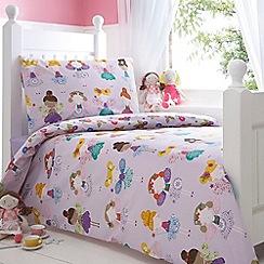 bluezoo - Kids' lilac 'Fairies' single duvet cover and pillow case set