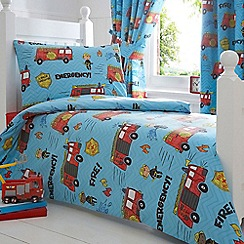 bluezoo - Kids 'Fire Engines' toddler bedding set