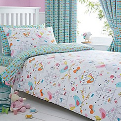 bluezoo - Girl's white 'Birdcage' bedding set