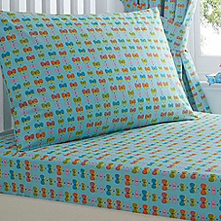 bluezoo - Girl's aqua 'Butterfly' bed linen set