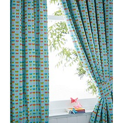bluezoo - Girl's aqua 'Butterfly' curtains