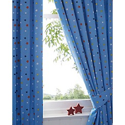 bluezoo - Boy's blue star curtains